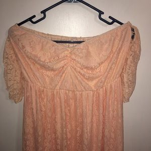 XL Maternity PhotoShoot Gown Peach